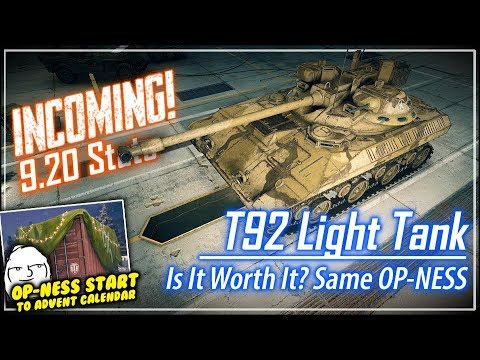 INCOMING! T92 LT Stats || World of Tanks