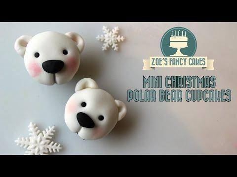 Polar bear cupcakes christmas cake decorating tutorial how to make polar bear cupcakes
