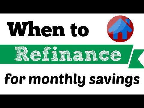 When to Refinance | Refinancing Mortgage for Monthly Savings