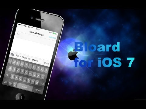 iOS 7 Jailbreak Tweaks: Bloard (Black keyboard!)