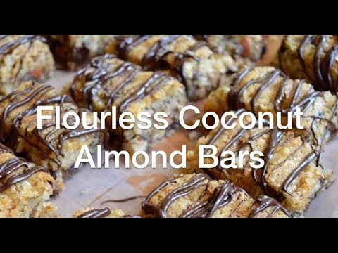 Flourless Coconut Almond Bars - AnOregonCottage.com