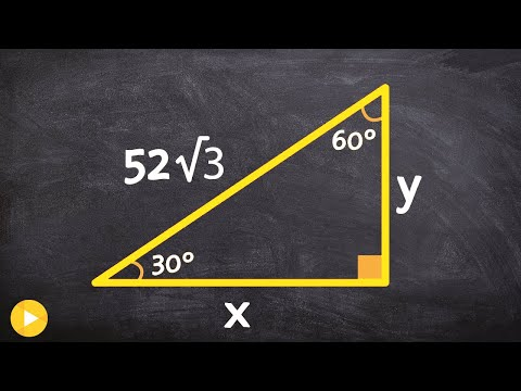 How to determine the legs of a 30 60 90 triangle when given the hypotenuse