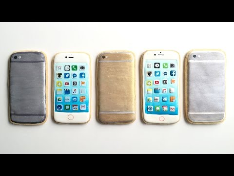 How To Decorate iPhone Cookies With Royal Icing!