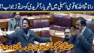 Rana Sanaullah Big Response to Shehryar Afridi in National Assembly!