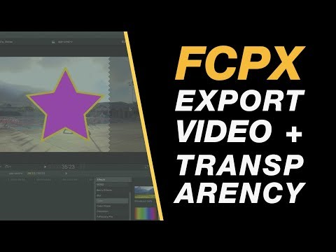 Final Cut Pro X Tutorial: Export Video with Transparency and Re-Import it to the Timeline