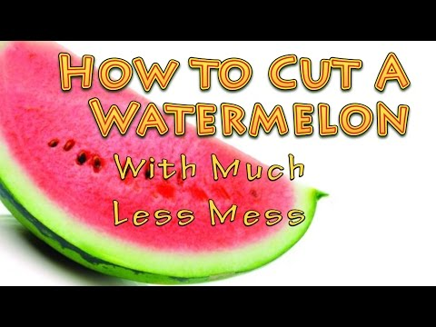 How to Cut A Watermelon With Much Less Mess