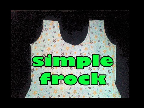 how to make a frock at home, summer cotton simple frock cutting, baby girl dresses baby frocks