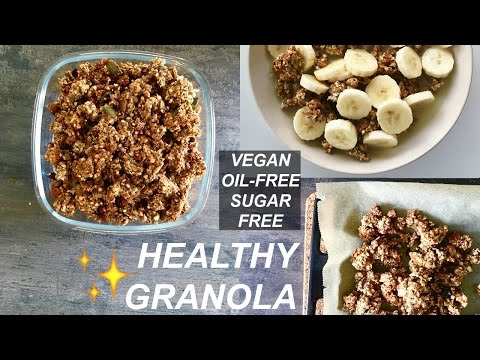 SPICED APPLE GRANOLA RECIPE // Vegan, Oil-free, Sugar free, Healthy