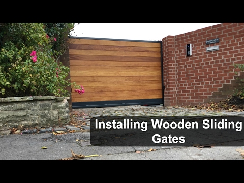 Installing Wooden Sliding Gates