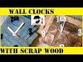 Wall clocks with scrap wood