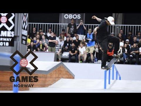 Felipe Gustavo wins Men's Skateboard Street bronze   X Games Norway 2018