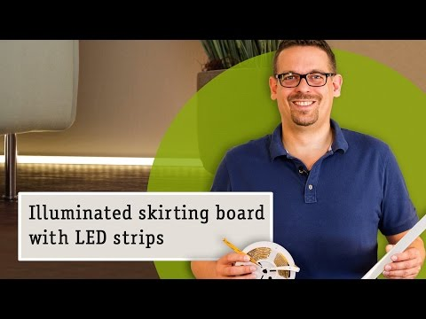 LED lighting strips as floor lighting: With Delta Profile and LED Strips