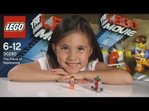 PIECE OF RESISTANCE - LEGO MOVIE Set 30280 - Time-lapse Build, Stop Motion, Unboxing & Review!