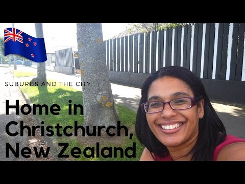 Driving in Christchurch suburbs and city