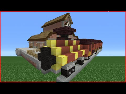 Minecraft Tutorial: How To Make A Steam Train