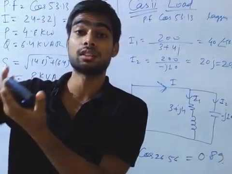 Solved problems on reactive power,real power,apparent power and power factor.