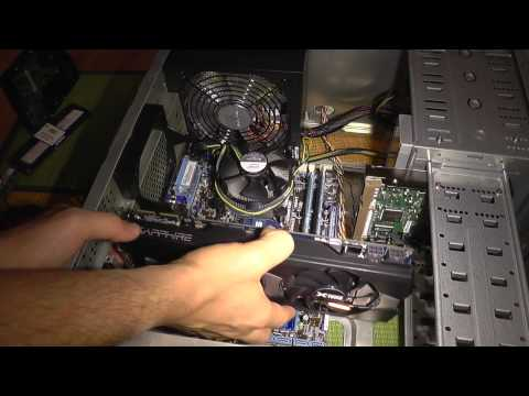 How to upgrade an old PC ~Part 5~ Install Graphics Card, HDD and PSU Cables