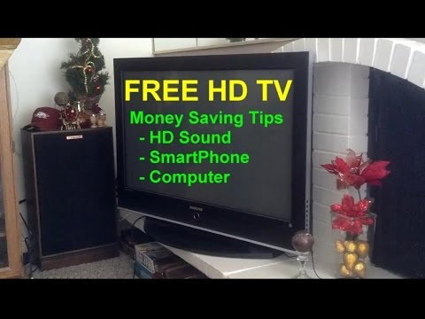 Free HD TV with HD sound, watch your phone or computer on your HD TV - Home Repair Series