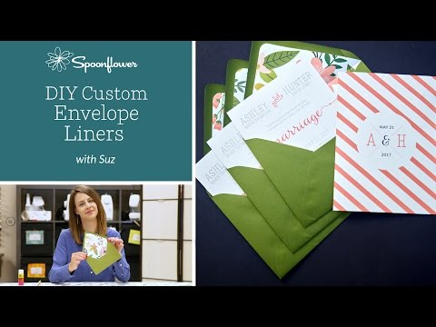 DIY Custom Envelop Liner   Spoonflower Tutorials
