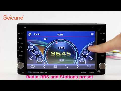 Double Din Universal Radio CD DVD Player with Aux Digital TV Steering Wheel Control