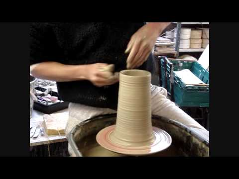 Throwing a Double Walled pot on the Wheel