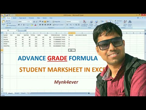 HOW TO USE  ADVANCE GRADE FORMULA IN STUDENT MARKSHEET(EXCEL)