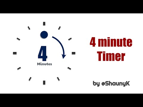 4 Minute Countdown Timer   with minute click sounds