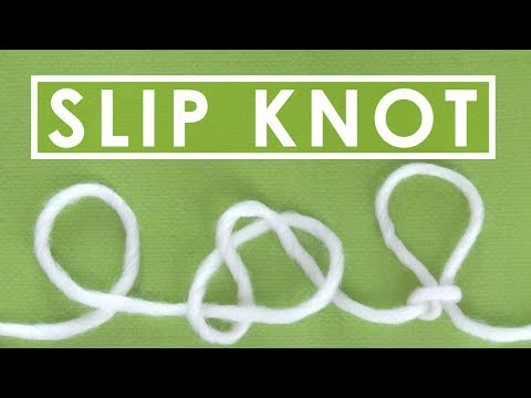 HOW TO MAKE A SLIP KNOT ► Day 5 Absolute Beginner Knitting Series