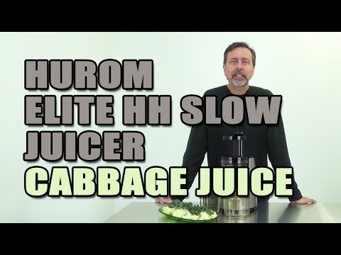 Hurom Elite HH Slow Juicer Cabbage Juice