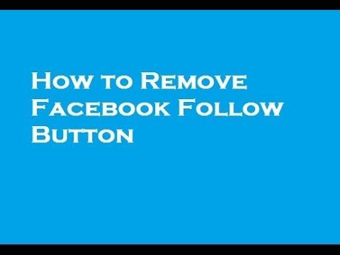 Remove Facebook Follow Button
