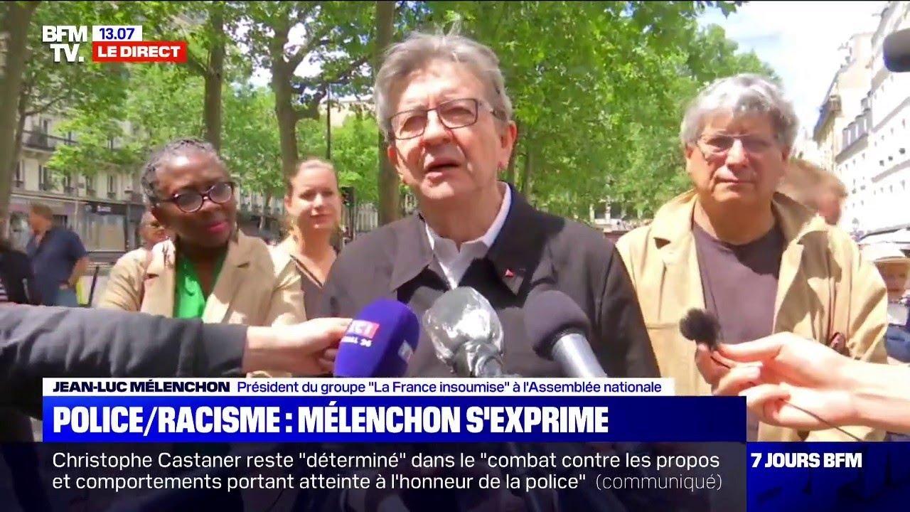 """Jean-Luc Mélenchon, """"le préfet Lallement  organise les choses pour que ça se passe mal"""""""