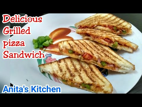 How to make Grilled pizza sandwich   5 min recipe   pizza without pizza sauce