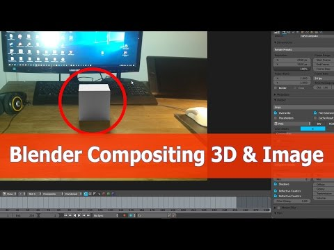 Blender Compositing Images and 3D Objects