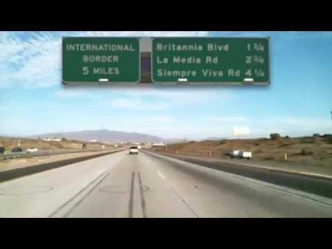 Driving from El Cajon, CA, U.S.A to the In't Airport of Tijuana, Mexico