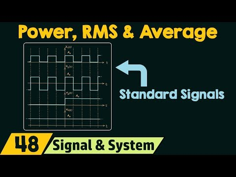 Power, RMS & Average Value of Standard Signals