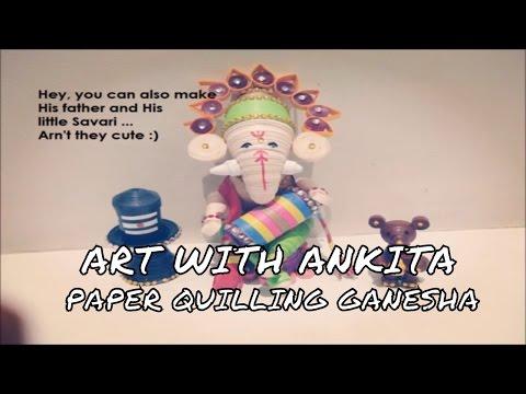 DIY PAPER QUILLING GANESHA.