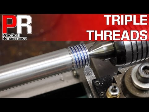 Triple Lead Threads on the Mini Lathe and in Fusion 360!