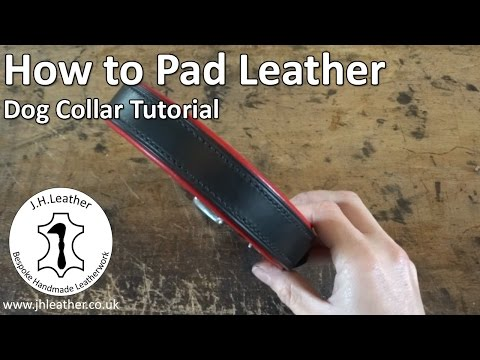 How to Pad Leather - Dog Collar Tutorial