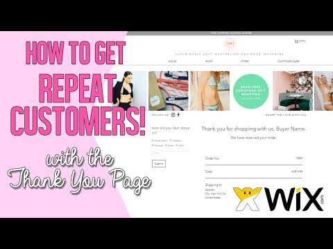Marketing Tips: How to maintain customer retention with the Wix Thank You Page