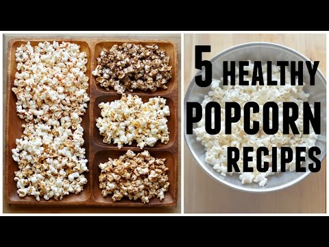 5 HEALTHY POPCORN RECIPES | Oil-Free & Salt-free