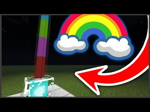 How to make a rainbow beacon in MCPE 1.2 !!