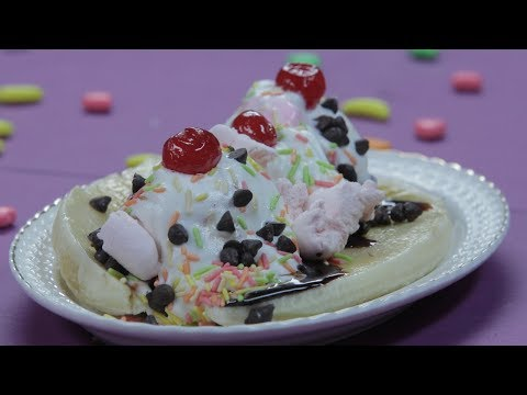 Chocolate-Banana Sundae - Banana Split Ice Cream Recipe - Summer Vacation Special Recipes For Kids