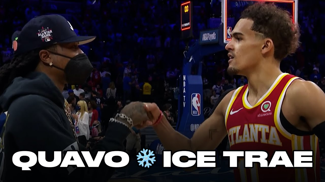 Trae Young Daps Up Quavo After Unreal Game 5 Comeback Win