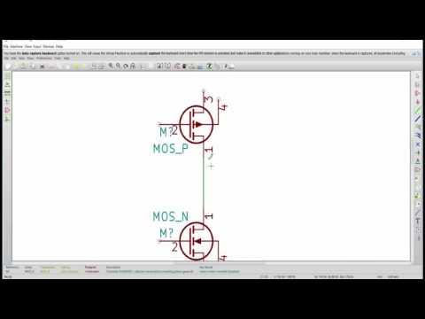 L3 - Inverter Subcircuit design using eSim