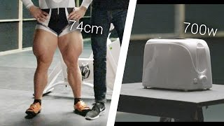 Olympic Cyclist Vs. Toaster: Can He Power It?