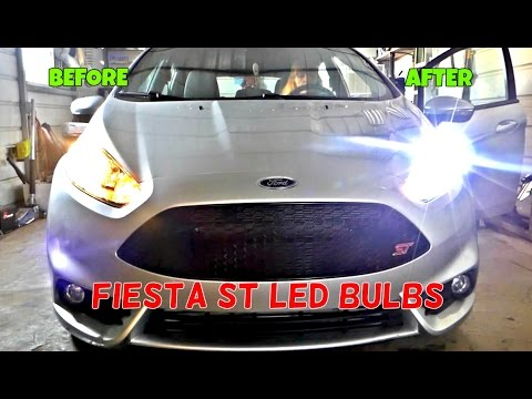 Ford Fiesta ST LED Headlight Bulbs Installation  & Review by Auxbeam