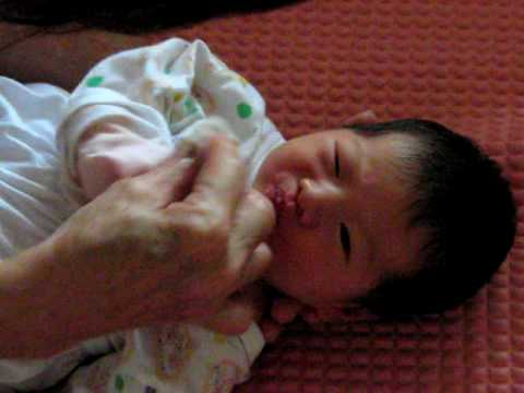 Taking Care of Baby: Wiping mouth