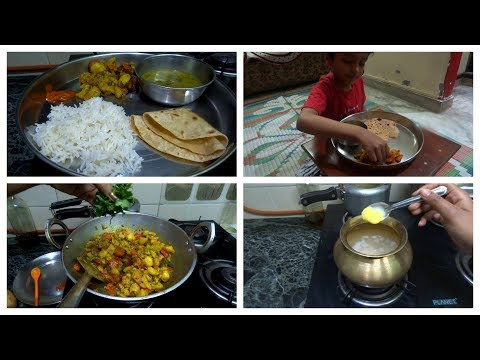 Monday lunch routine||Make Delicious lunch in 40 minutes||indian mom lunch routine.quick lunch ideas