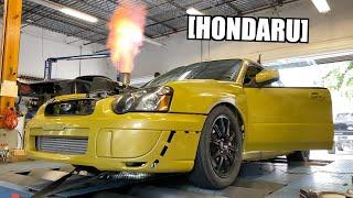 Honda Swapped STI Makes 750+WHP AWD!