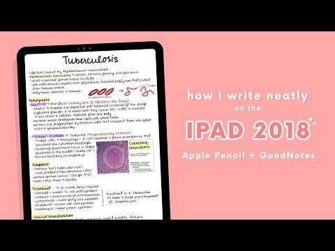 ✏️ HOW I WRITE NEATLY ON THE IPAD 2018 (APPLE PENCIL + GOODNOTES) ♡ ✏️